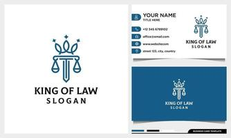 Law firm, attorney, pillar and elegance crown line art logo template vector