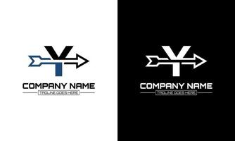 Vector illustration of letter Y logo shape arrow graphic