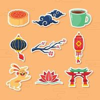 Mid Autumn Festival Icon Collection vector