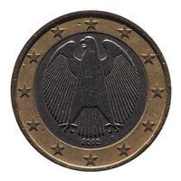 moneda de dos euros eur, unión europea ue foto