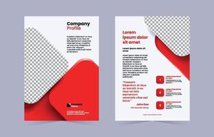 Red Gradient Modern Company Profile Cover vector