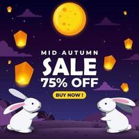 Mid Autumn Sale vector