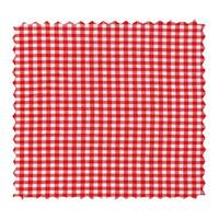 Chequered fabric swatch isolated photo