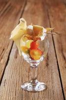 aperitivo de queso y frutas foto