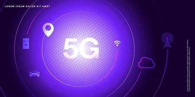 Advanced technology background, Abstract 5G concept,big data vector