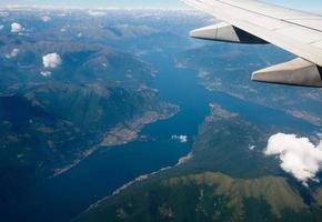 Aerial view of Lake Como photo