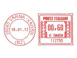 Postage meter stamp photo