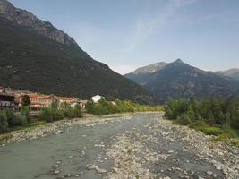 Dora Baltea river in Donnas photo