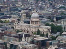 Aerial view of London photo