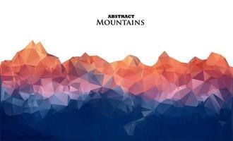 fondo abstracto con montañas en estilo poligonal. vector
