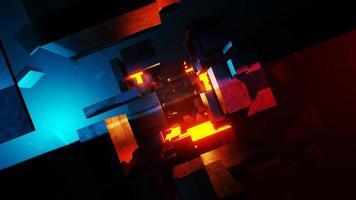 Representación 3D de un túnel de ciencia ficción con resumen de luz en movimiento foto