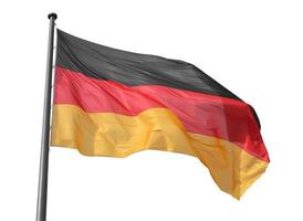 bandera alemana aislada foto