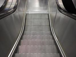 Subway escalator stairs photo