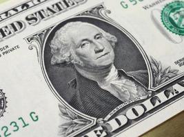 Washington en billete de 1 dólar, Estados Unidos foto