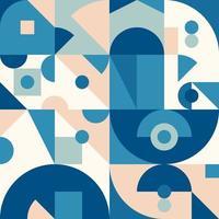 Neogeo Blue Abstract Geometric Design vector
