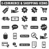 ecommerce and shopping icons vector