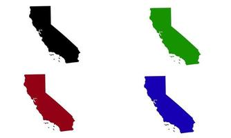 California state map silhouette in the United States vector