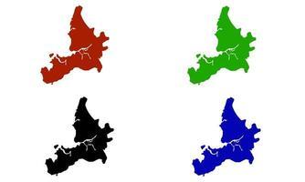 Mumbai city map silhouette in India vector