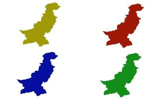 Pakistan country map silhouette in south asia vector