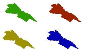 Makueni County map silhouette in kenya vector