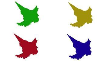 silhouette map of Embu County in kenya vector