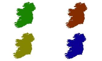Ireland country map silhouette in Europe vector