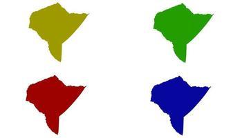 Mandera County map silhouette in kenya vector