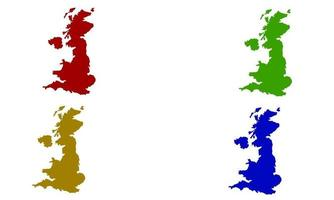 Great Britain country map silhouette in europe vector