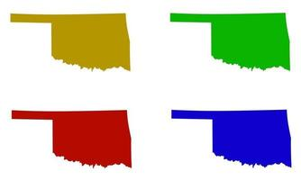 Oklahoma state map silhouette in the United States vector