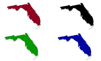 Florida state map silhouette in the United States vector
