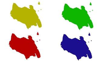 country map silhouette of Johor in Malaysia vector