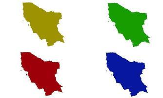 Marsabit County map silhouette in kenya vector