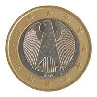 moneda de un euro aislada foto