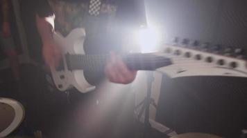 Guitar in heavy metal rock band video