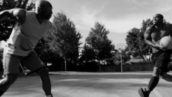 Blocked shot, one on one street basketball video