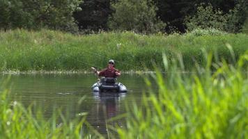 pesca con mosca, cámara lenta, tiro en phantom flex 4k video