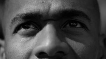 Closeup of basketball players eyes video