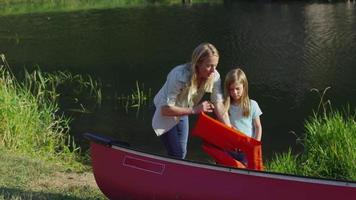 Children getting life jackets on video