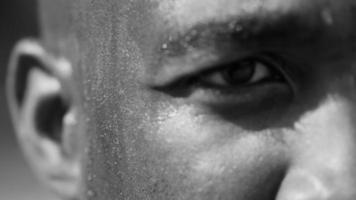 Sweat dripping down basketball players face video