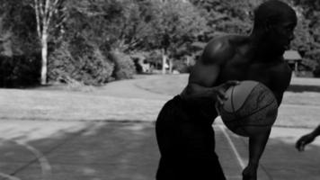 One on one street basketball video