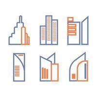 diseño de icono de edificio alto vector