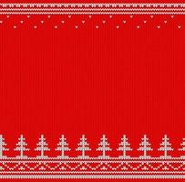 Red and white knitted jumper vector