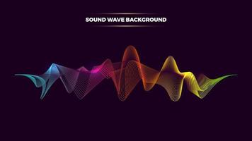 Vector abstract with dynamic sound waves. music spectrum neon lines