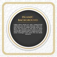 Social Media white gold islamic patern Background vector