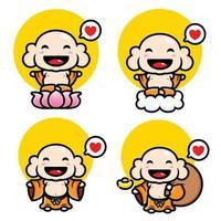 cartoon version of the maitreya buddha vector design