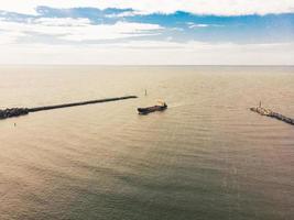 buque de carga con vista panorámica aérea foto