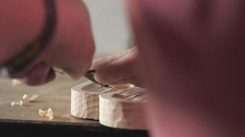 a carpenter processes a pine wood board video