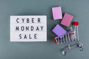 Front view cyber monday composition photo