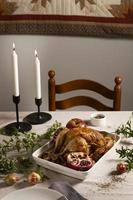 The thanksgiving turkey composition table photo