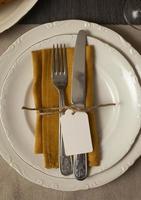 la mesa de surtido de la cena de acción de gracias foto